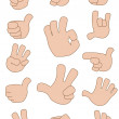 Gestures collection — Stock Vector