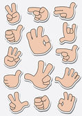 Collection of sticker gestures — Vetorial Stock