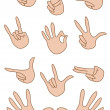 Set of gestures hand — Stock Vector