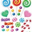 Set of sweets - Imagens vectoriais em stock