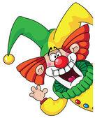 Clown head — Stock Vector