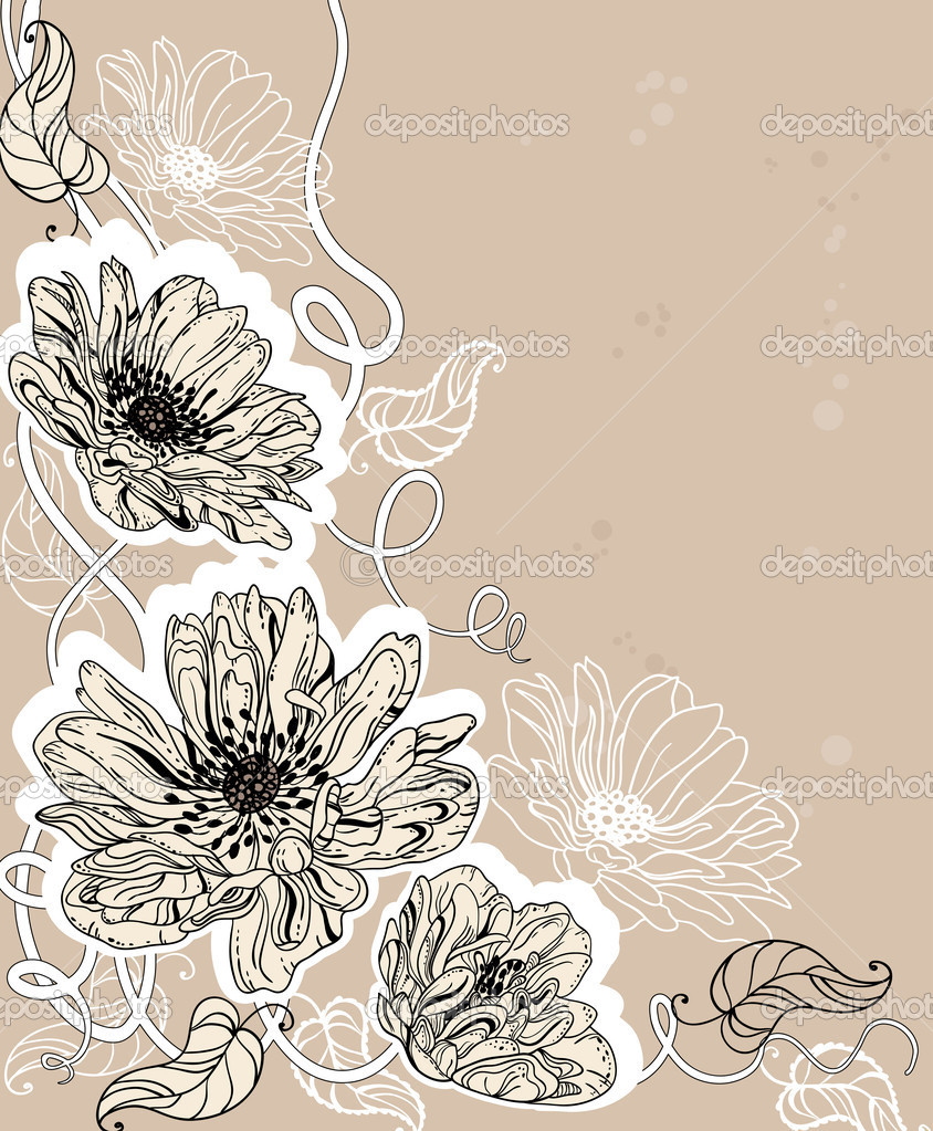 Hand drawn illustration of a flowers — Vektorgrafik #5584383