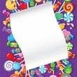 Candy and sweets card - Stock Vector