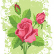 Roses card — Stock Vector