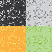 Seamless colour curves — Stock Vector