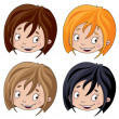 Set of head girl — Stock Vector