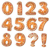 Cookies numbers and symbols — Stock Vector