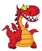 Great dragon — Stock Vector