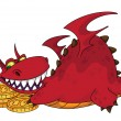Royalty-Free Stock Vector Image: Big dragon with money