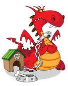 Dangerous dragon — Stock Vector