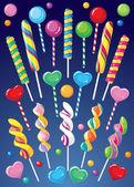 Lollipops set — Stock Vector