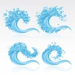 Set of waves — Stock Vector #5500933