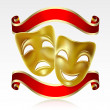 Theatrical masks - Imagen vectorial