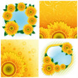 Collection of backgrounds — Stock Vector #5798506