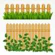 Border and  fence. — Stock Vector