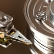 Stock Photo: Close up of hard disk drive