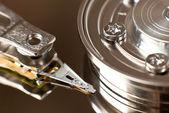 硬磁盘驱动器的关门 — 图库照片