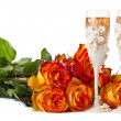 Champagne and roses — Stock Photo #5678384