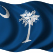 Stock Photo: Flag of South Carolina