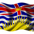 British Columbia Flag - Stock Photo
