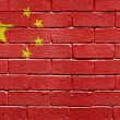 Flag of China on brick wall — Stock Photo