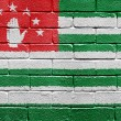 Royalty-Free Stock Photo: Flag of Abkhazia on brick wall