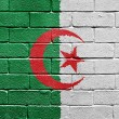 Flag of Algeria on brick wall — Stock Photo