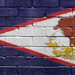 Flag of American Samoa on brick wall — Stock Photo