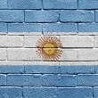 Flag of Argentina on brick wall — Stock Photo #5397685