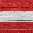 Flag of Austria on a brick wall — Stock Photo