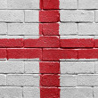 Flag of England on a brick wall - Stock Photo