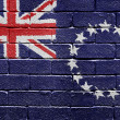 Flag of the Cook Islands on brick wall - Stock Photo