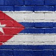 Flag of Cuba on brick wall — Stock Photo