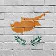 Flag of Cyprus on brick wall — Stock Photo