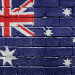 Flag of Australia on brick wall — ストック写真