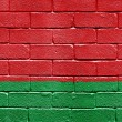 Flag of Belarus on brick wall — Stockfoto