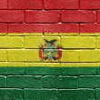 Flag of Bolivia on brick wall — Photo