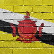 Flag of Brunei on brick wall — Photo