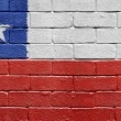 Royalty-Free Stock Photo: Flag of Chile on brick wall