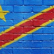 Stock Photo: Flag of Democratic Republic of Congo on brick wall