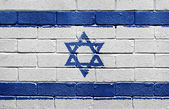 Flag of Israel on brick wall — Stock Photo
