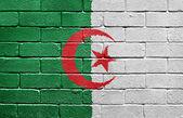 Flag of Algeria on brick wall — Stock Photo