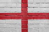 Flag of England on a brick wall — Stock Photo