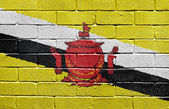Flag of Brunei on brick wall — Stock Photo