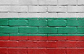 Flag of Bulgaria on brick wall — Stock Photo