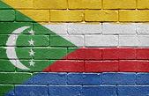 Flag of Comoros on brick wall — Stock Photo