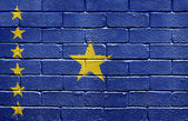 Flag of Republic of the Congo on brick wall — Stock Photo