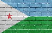 Flag of Djibouti on brick wall — Stock Photo