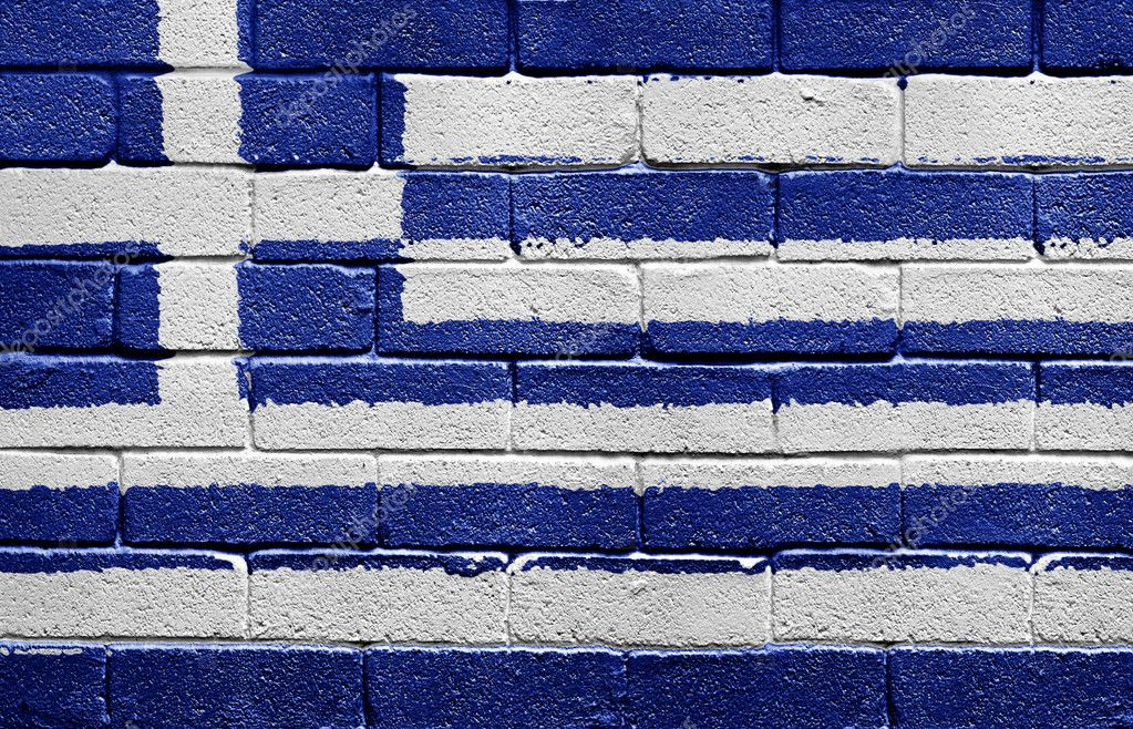 Grecia Bandera Bandera de Grecia Pintado en