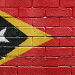 Flag of East Timor on brick wall — Lizenzfreies Foto